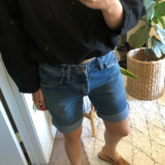 Vintage Pants - Vintage rolled cut off Rustler jean denim shorts